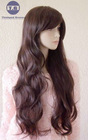 Top Quality Charming lady New Long Curly wavy bang fashion wig