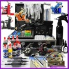 Tattoo Kit Dual LCD Power 6 Machines Guns 6 Grips Needles Machine Lights Ink Supply