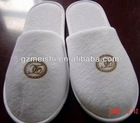 soft cotton hotel white slippers
