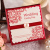 Red and creative wedding favor paper box design