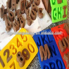 FDA Silicone Alphabet Letters and Numbers Cake mold