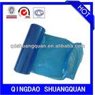 HDPE transparent plastic bag, flat bag with gusset