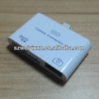 2012 Cheap Price for apple 3 in 1 micro SD USB TF card reader for ipad4 ipad mini