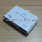 2012 Cheap Price for apple 3 in 1 micro SD USB TF card reader for ipad4 ipad mini