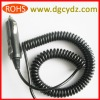 Car Cigarette Lighter Plug PU Curly Cord