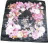 Current popupar square scarf with flower pattern with competitive price