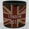 Union Jack design surdries storage bin,wood dustbin,waste container