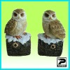 Polyresin Owl with Motion Sensor for Home and Garden Security