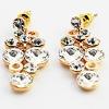 Fashion jewelry full diamond earrings