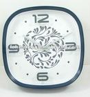 "12"" plastic black wall clock for home decor"
