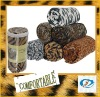 Printed knit blanket of polar fleece/zebra print fabric wholesale