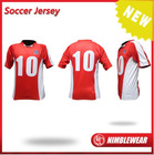 Custom making fully sublimated excellent stretch soccer jersey