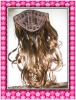 Top quality low price machine made synthetic half wig from factory directly