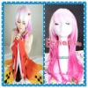 45cm medium pink+white NORIYUZURIHA Guilty Crown cosplay wig RW134