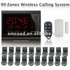 99 Zones LED Display Wireless Table Waiter Service Call Calling Paging System w 3-press Table Button AT-ECS-R