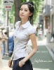 Korean version of the Slim Puff Sleeve white short-sleeved Clothes/shirt/Blouses =LD-CS042