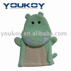 Hippo bath shower scrubber gloves (GS0004)