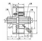 LTZ flexible shaft coupling with braked wheel