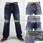 Men's Leisure Flap Pocket Jeans Denim Pants
