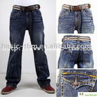 Men's Leisure Flap Pocket Jeans Denim Pants