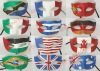 hot sales flag face painting party mask