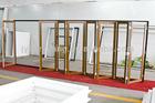 Australia Standard Double Glazed Wood Finish Plastic Bi Folding Doors