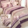 long stapled cotton bed sheet sets /printed bed spread set
