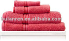 100% cotton bath towel with satin