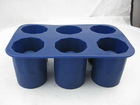 6pcs set silicone ice tray, ice cup mould, silicon ice cup