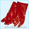 Red PVC Chemical Resistance Gloves
