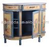 Wooden console storage cabinet