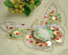 butterfly patch, embroidery motif designs,garment patch,beads neckline,mesh collar