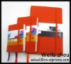 Factory direct Highly qulity Fashion jacinth bound leather notebook for Business man with customize Logo
