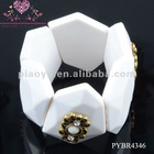 Heteromorphic Shape Resin Elastic Bracelets With Charms - PYBR4346