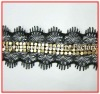 Factory direct sale sew on metal lace trim for garment accessories