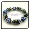 Hot Selling Flower Glass Bead Lampwork Bracelet