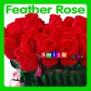 2012 new arrival top quality feather red roses for valentine's day