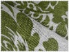 Newest printed flax fabric with flower pattern