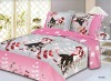 Reactive printed cotton bed sheet fabric