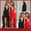 LED186 Best Sell Strapless Sweetheart Beaded Short Front Long Back Prom Dresses 2012
