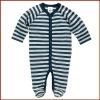 Baby Boys Long Sleeve Stripe 100% Cotton Elastane Romper