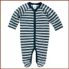 Baby Boys Long Sleeve Stripe 100% Cotton Elastane Romper