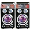 2.0 active professional usb sd fm subwoofer led dj sound speaker box