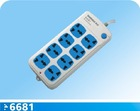 8 outlet power strip with main switch