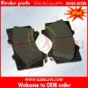 Brake pad manufacturers 04465-60280 for TOYOTA PRADO GRJ200 UZJ200 VDJ200