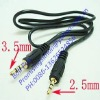 3.5mm male to 2,5mm stereo audio extension cable cord