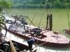 sand pumping ship dredger