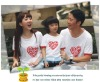 100% cotton family matching clothing t-shirt