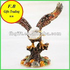 Expandable Wings Bird Home Decoration Metal Jewelry Case/Box(FB008496)