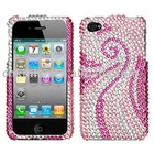Rainbow, Phoenix, Lollipop, Colorful Rhinestone, Bling, Crystal, Diamond, Diamante Case Shell for iPhone 4
